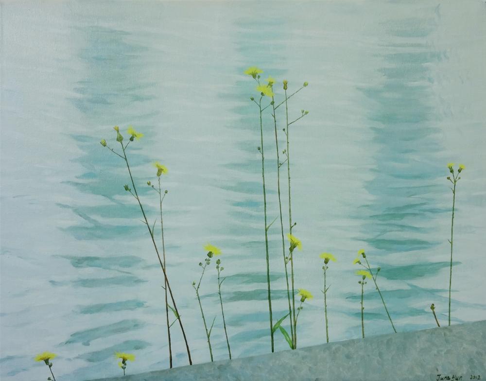 "Waterside, 24"" x 30"" / 水边,61cm x76cm, 2012"