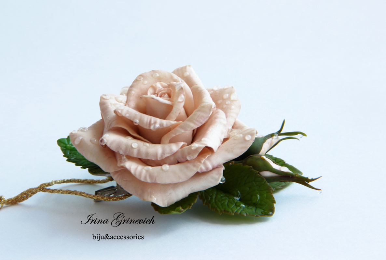 "Зажим ""Роза после грозы"""