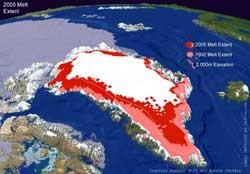 Grönlandeis bis 3000 m hoch