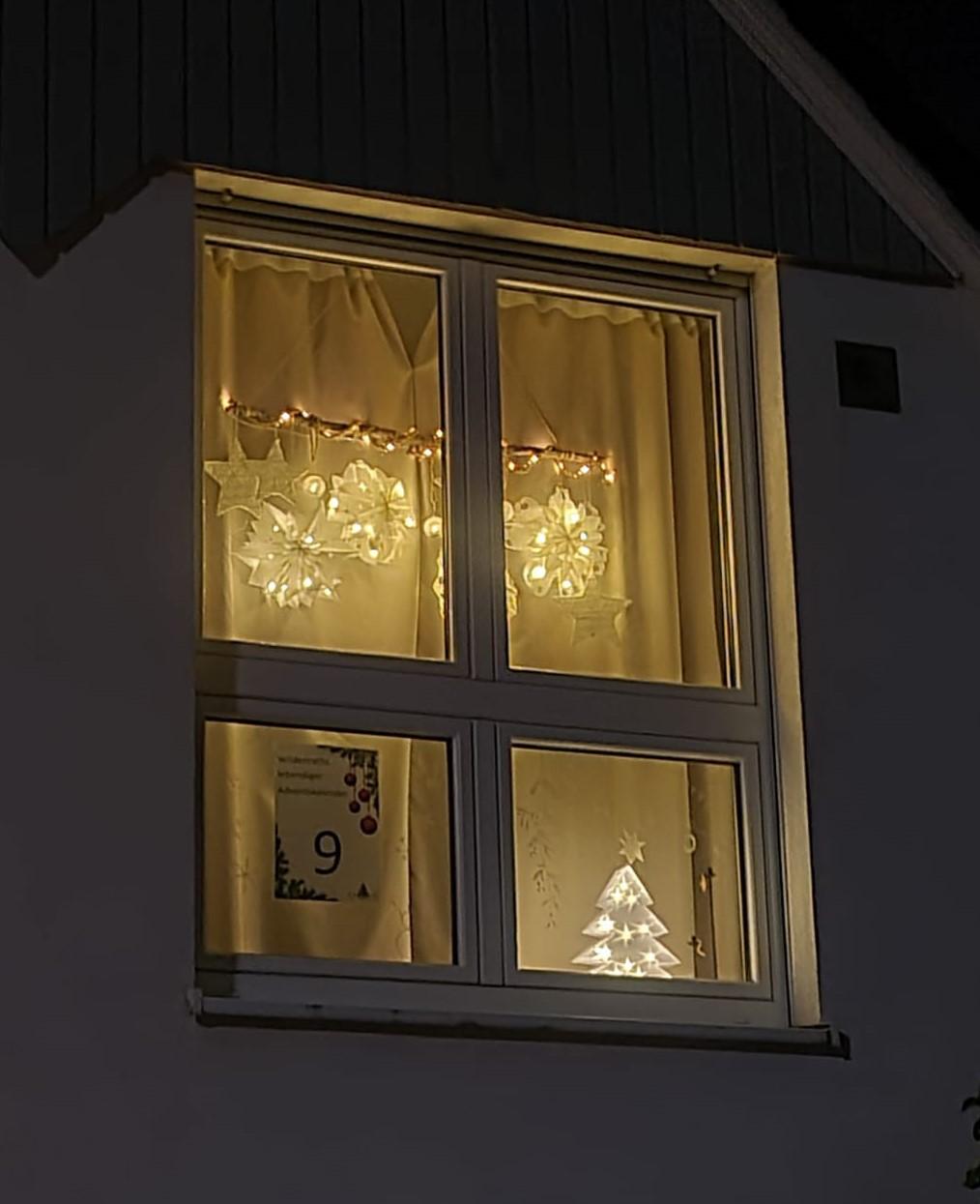 Adventsfenster Nr. 9