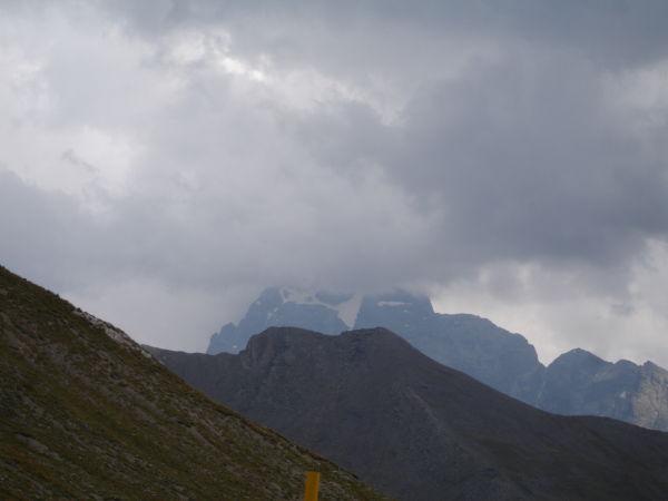 Le Monte Viso ... dans les nuages.