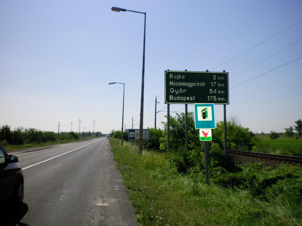 Premiers tours de roue en Hongrie.