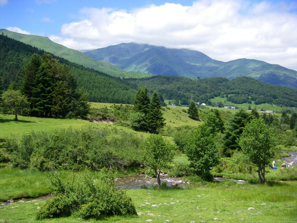 Plateau de Payolle au milieu de l'Aspin, lieu du pique-nique du jour.