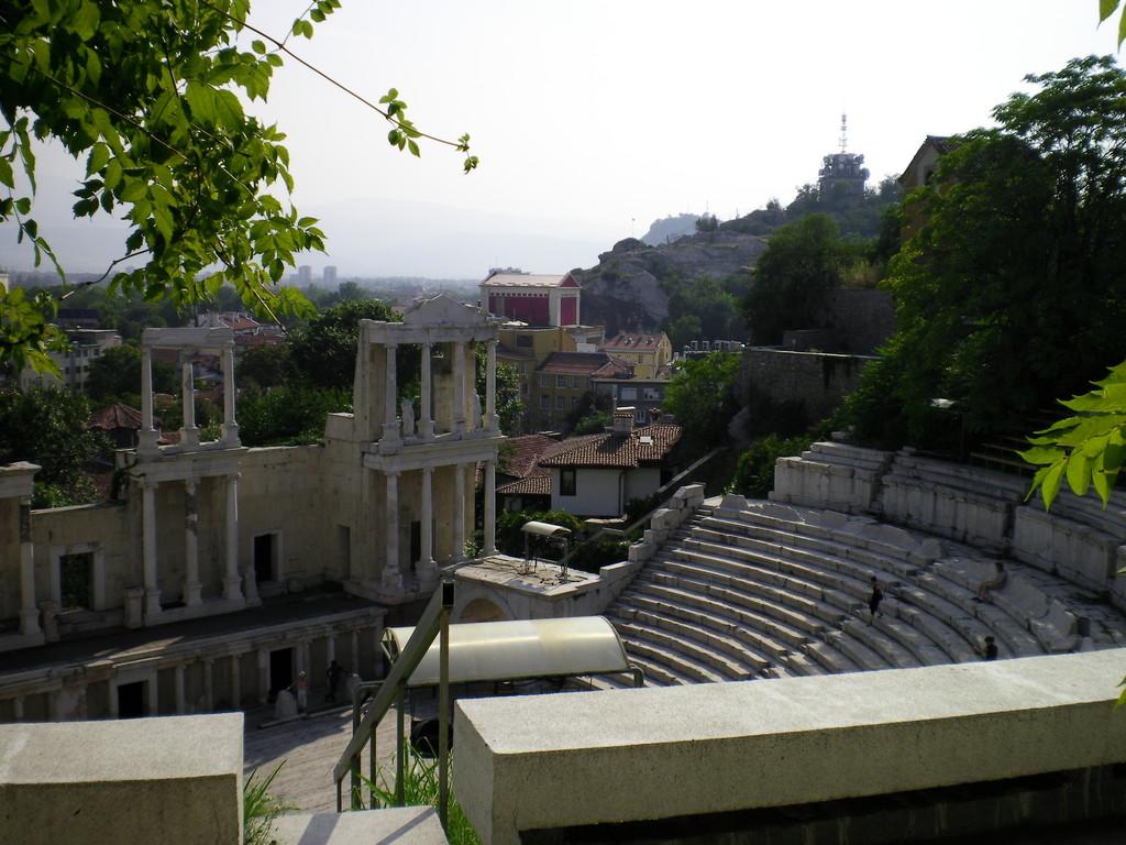 Le théâtre antique de Plovdiv.