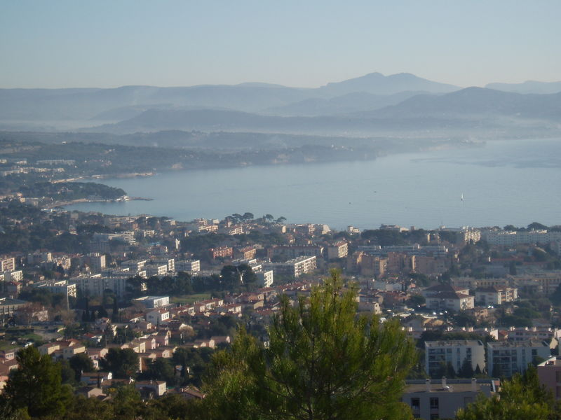 Vue sur la ville de la Ciotat.