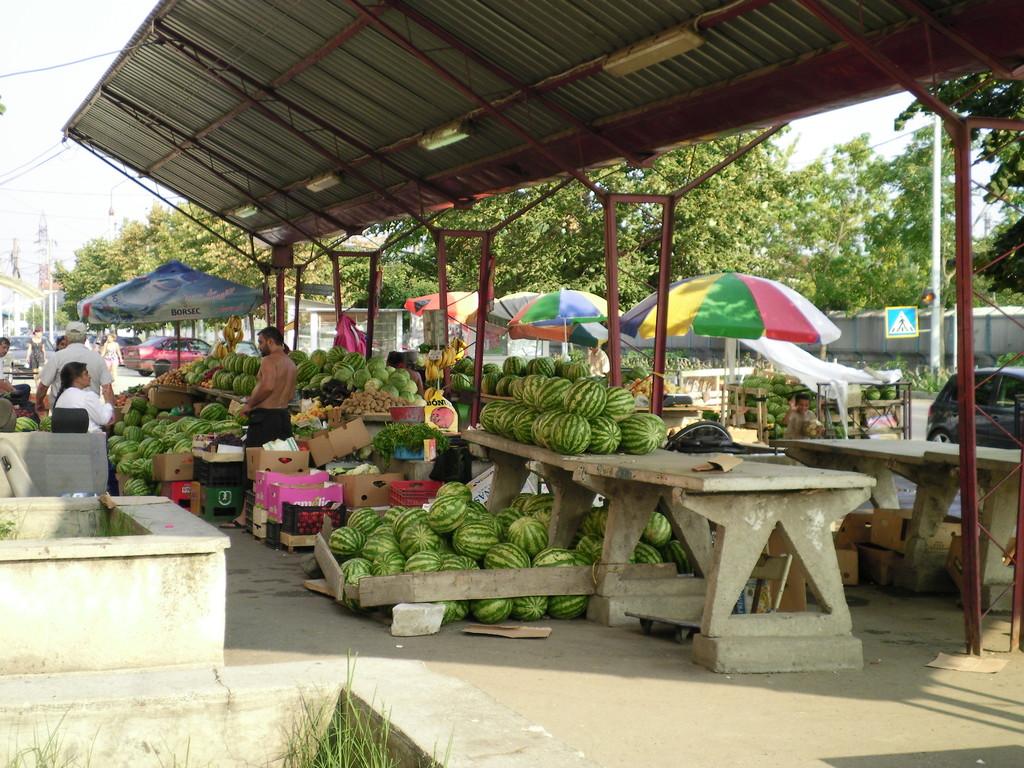Un marché dans cette même ville.