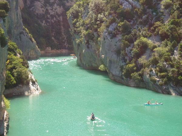 L'embouchure des gorges du Verdon.