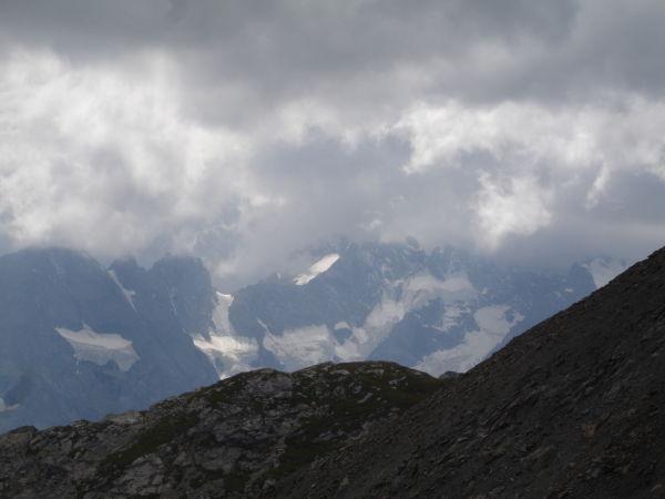 Le massif de la Meije.