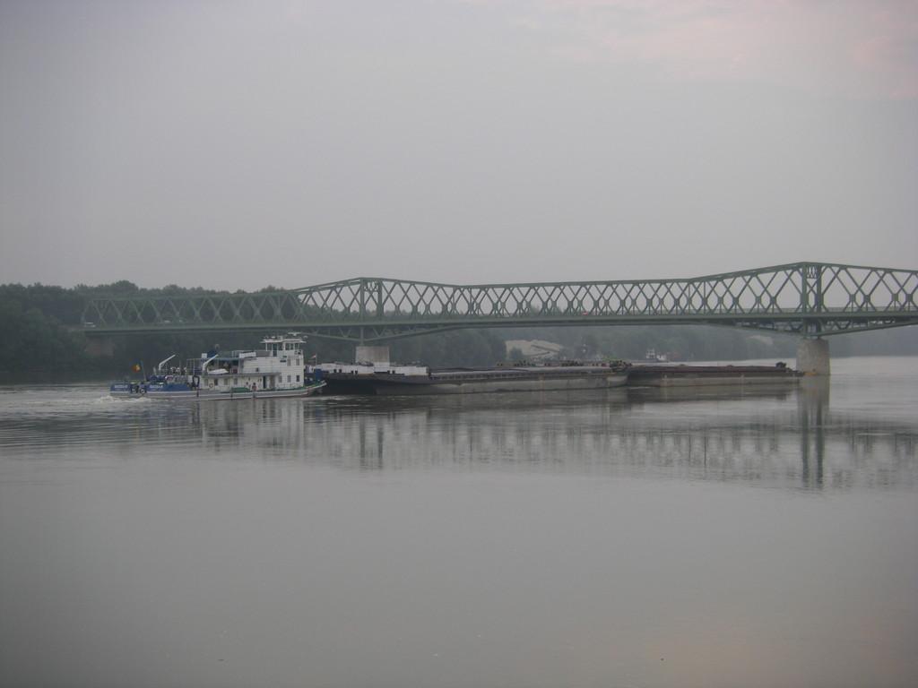 Vue sur le Danube depuis le camping de Dunafoldvar.