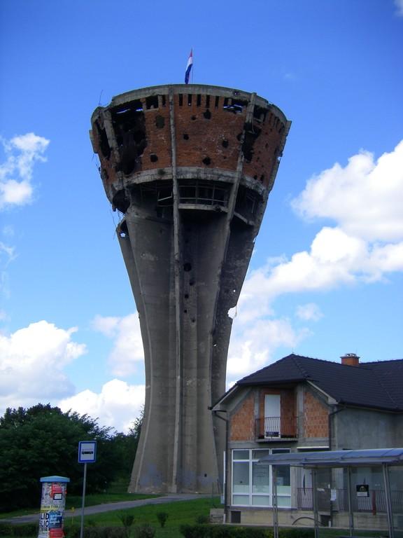 La château d'eau de Vukovar.