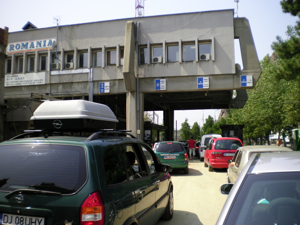 La douane roumaine.