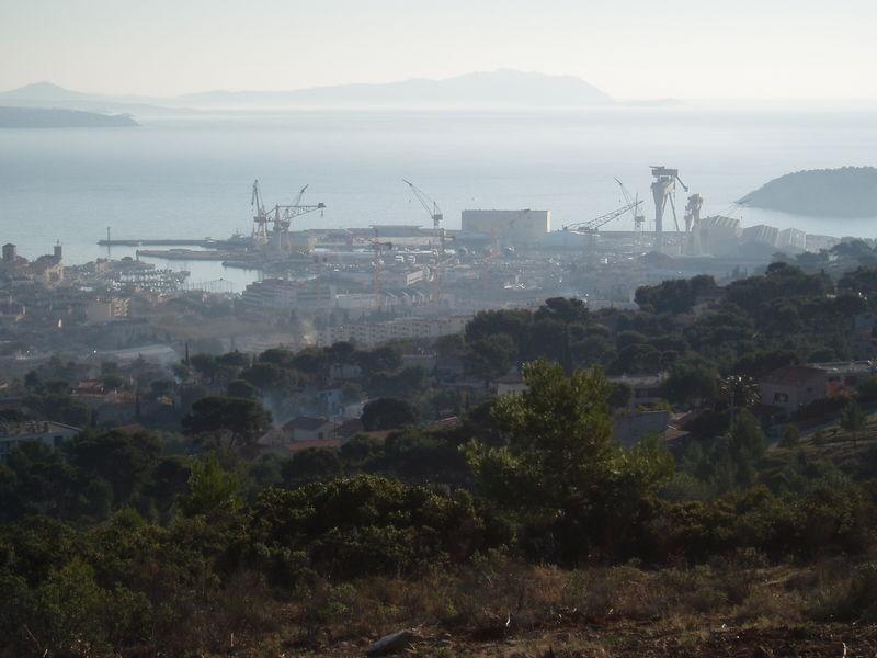 Vue sur le port de la Ciotat.