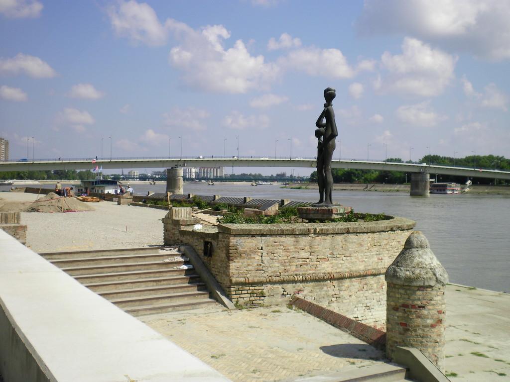 Le long du Danube à Novi Sad.