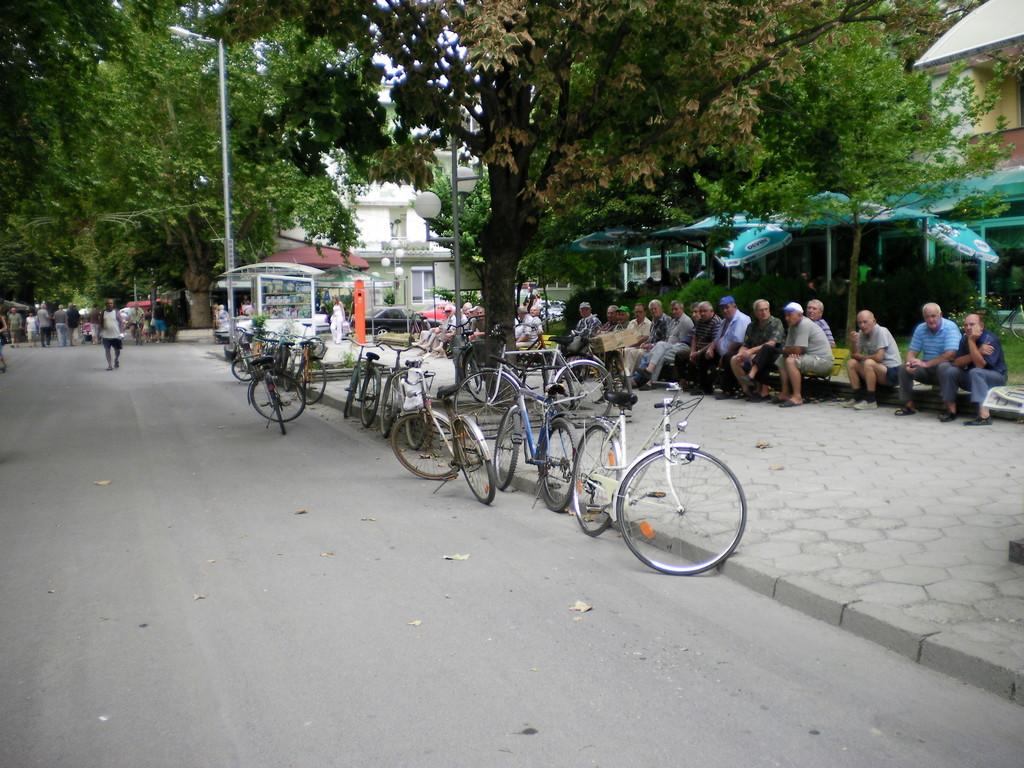 Le repos des cyclistes.