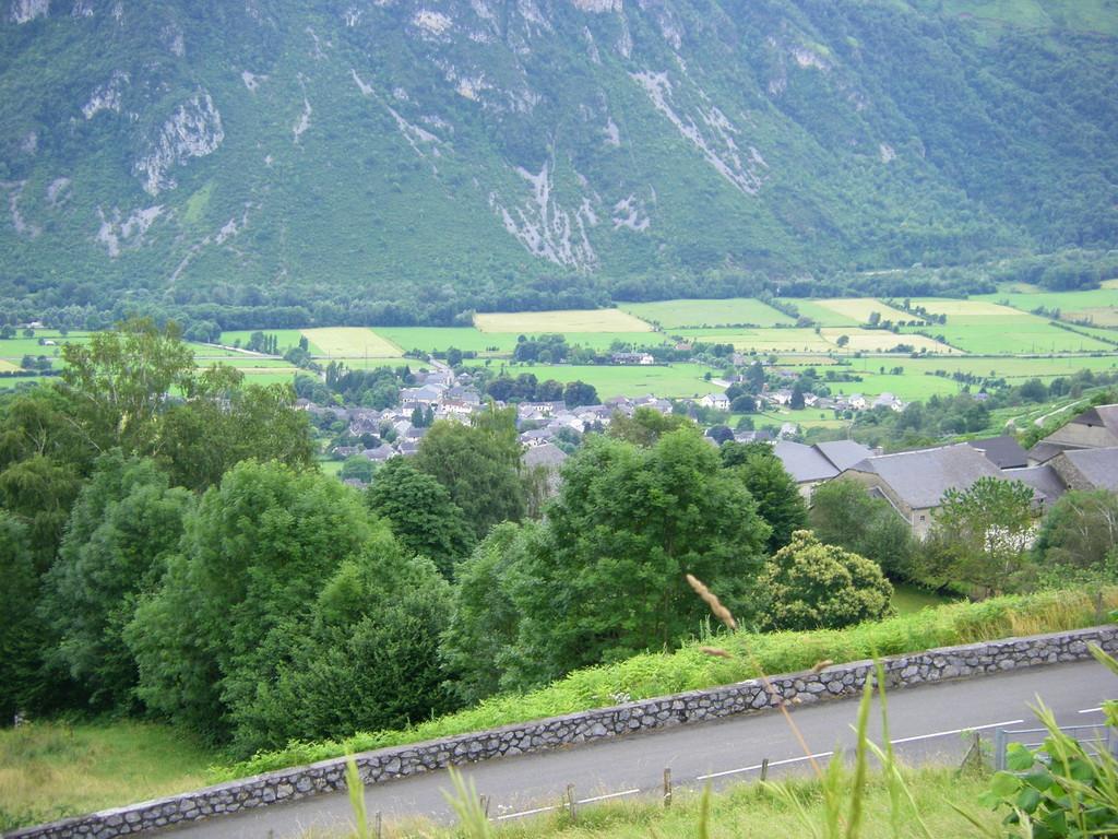 Vue sur la vallée du gave d'Ossau.