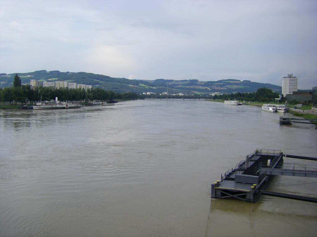 Première vision du Danube à Linz.