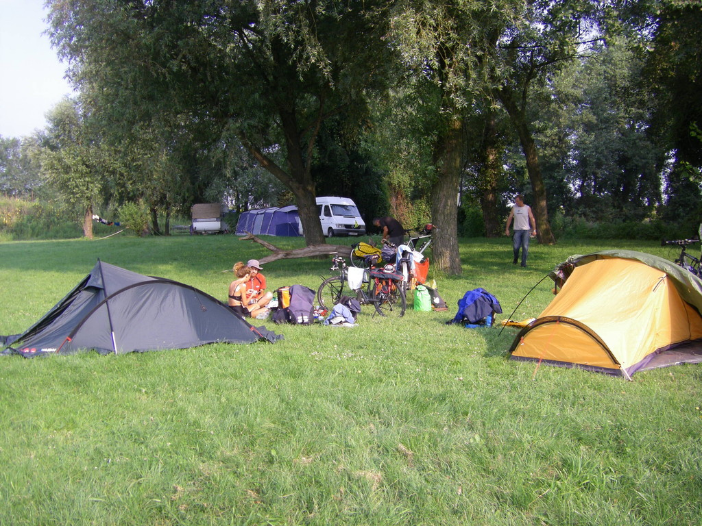 Le campement près de Kovin.