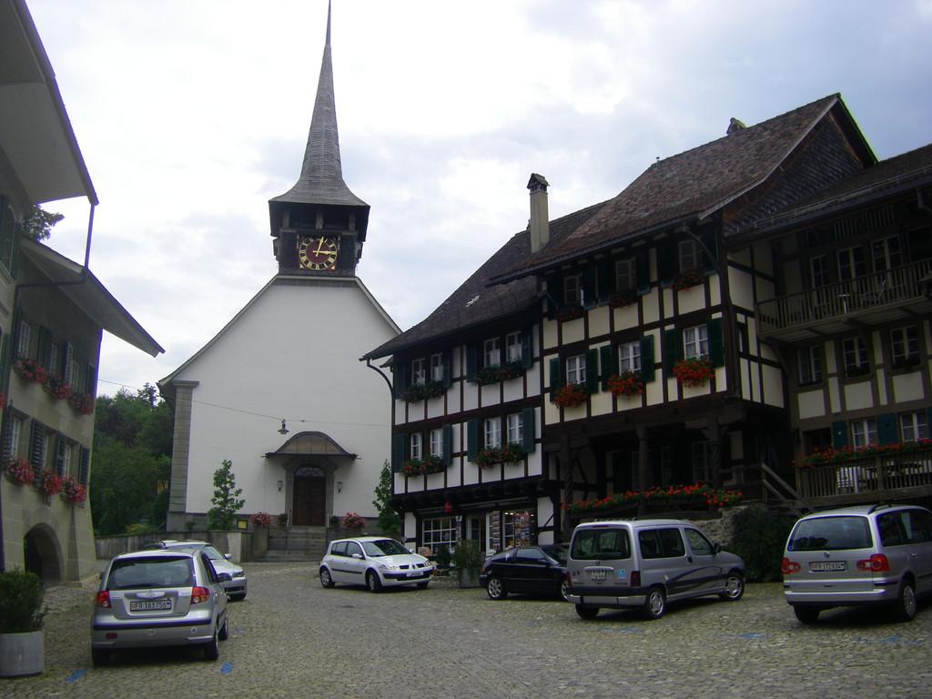 Le vieux centre de Laupen.