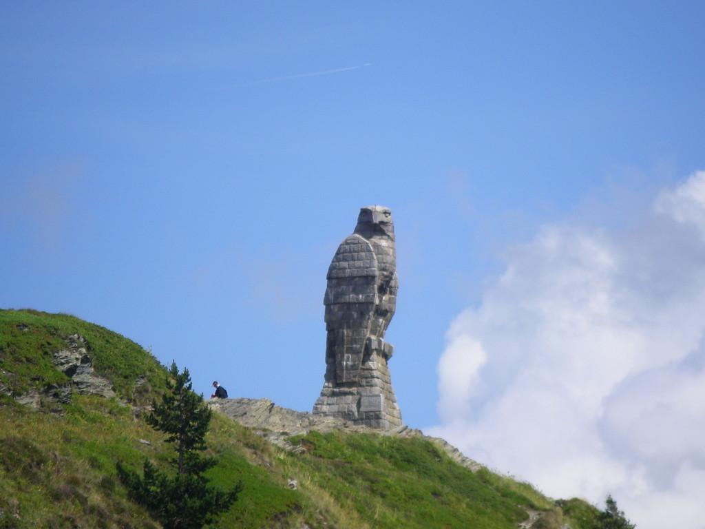 L'aigle au sommet du Simplon.