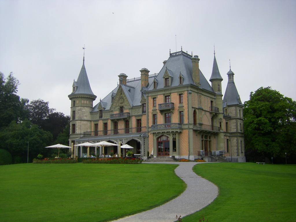 Le parc du château dans lequel nous avons pique-niqué.