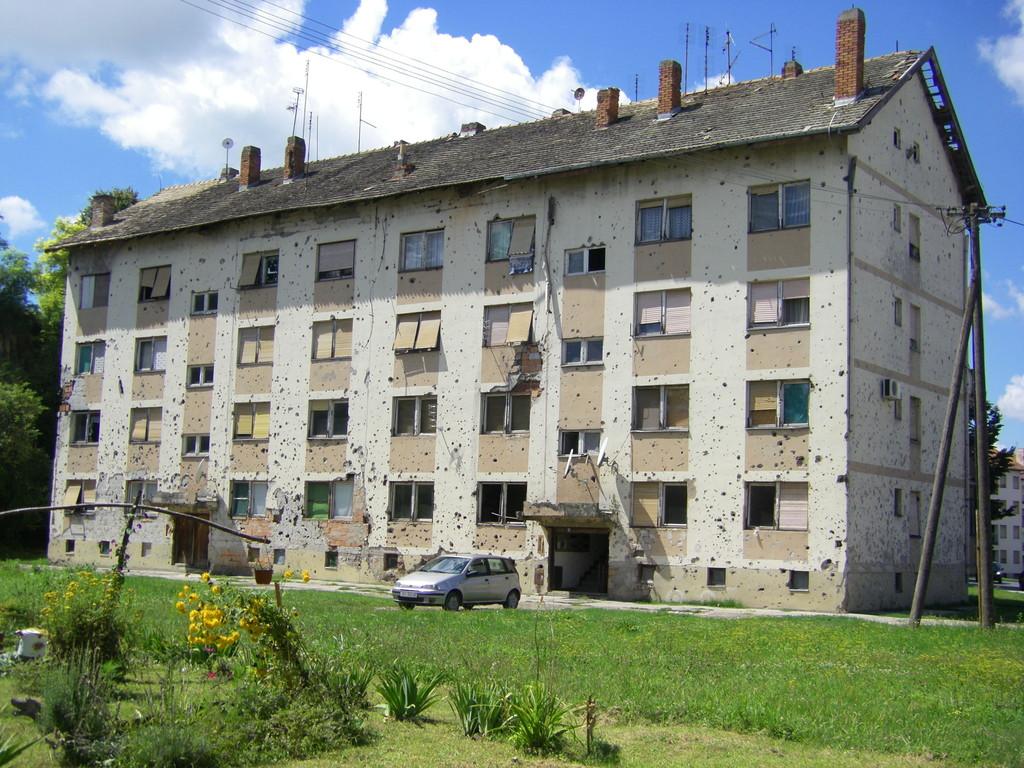Un immeuble de Vukovar.
