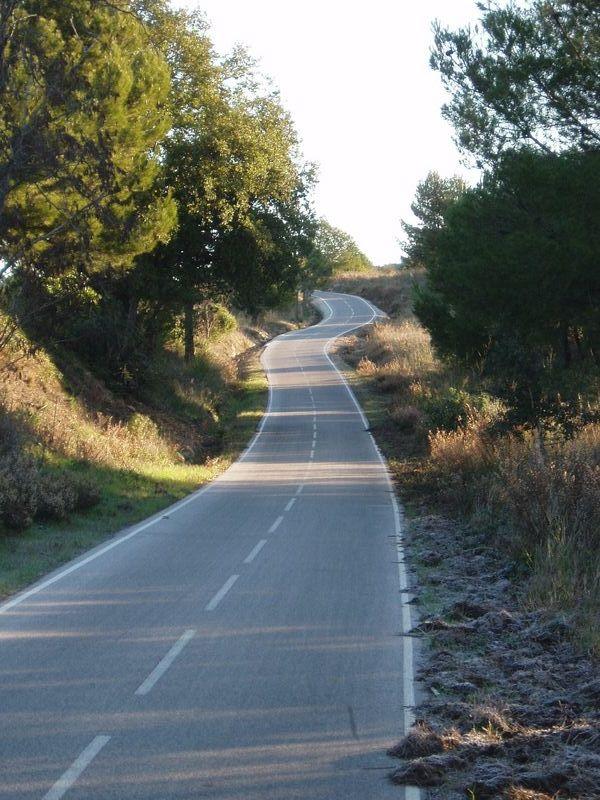 La piste cyclable avant la Londe.