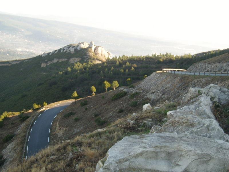 On arrive au sommet de la route des crêtes.