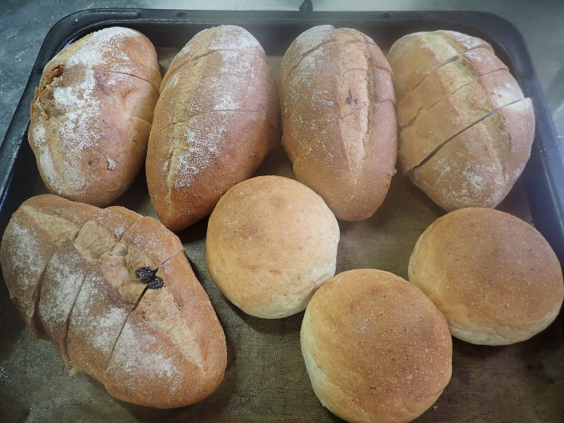 Freshly baked bread at Hotel & Restaurant Yesterday