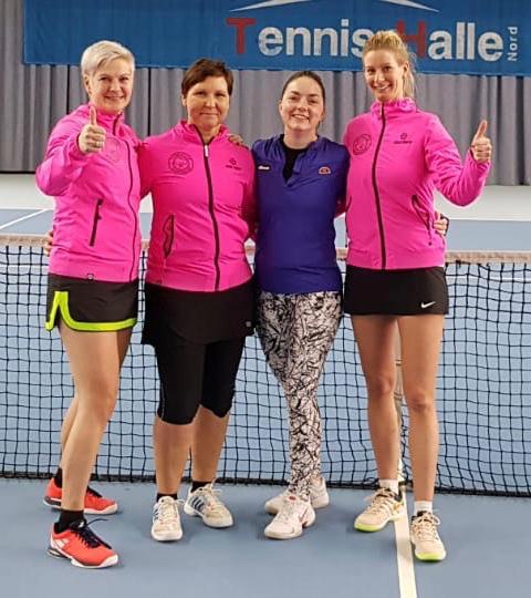 Das erfolgreiche TCW Damen 30-Team (v.l.n.r.): Mannschaftsführerin Nikola Koop, Annett Hempel, Gastspielerin Steffi Dargel und Tatjana Maas