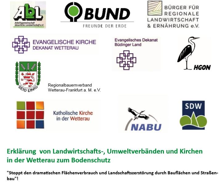 Foto: Erklärung von Landwirtschafts-, Umweltverbänden und Kirchen in der Wetterau zum Bodenschutz