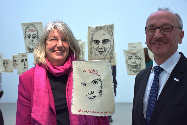 Ilona Friedrich, Bürgermeisterin der Stadt Kassel; Horst Rühl, Vorstandsvorsitzender Diakonie Hessen