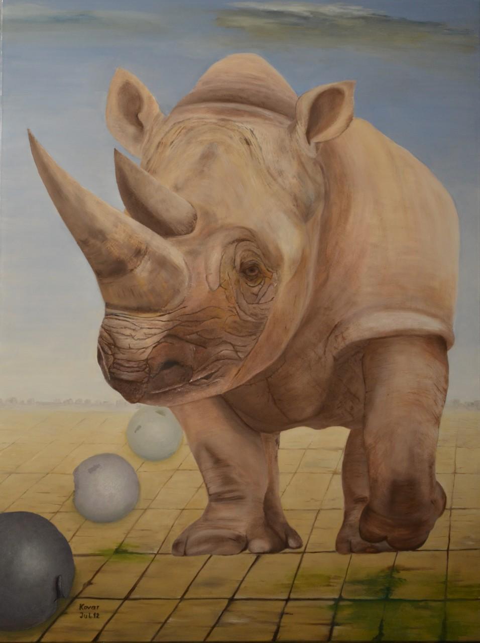 Arme Kreatur, Öl auf Leinwand 60x80cm, 2012. Oil on canvas.