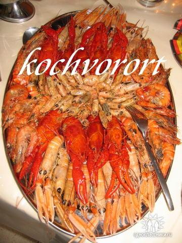 Krebse Garnelen Koch vor Ort russische Hochzeit