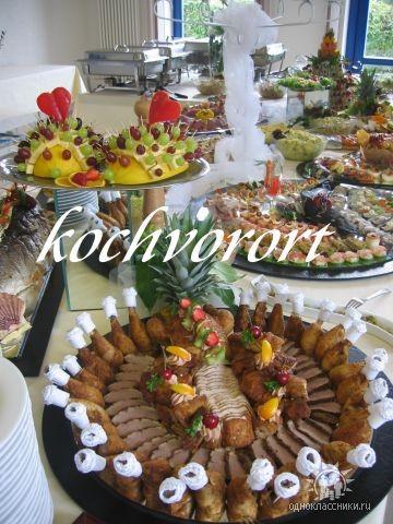 Geflügelplatte Koch vor Ort russische Hochzeit