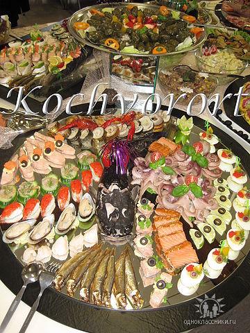 Fichplatte Buffet Swadba Koch vor Ort russische Hochzeit