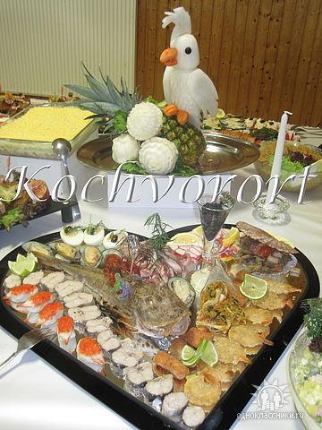 Fischplatte Koch vor Ort russische Hochzeit