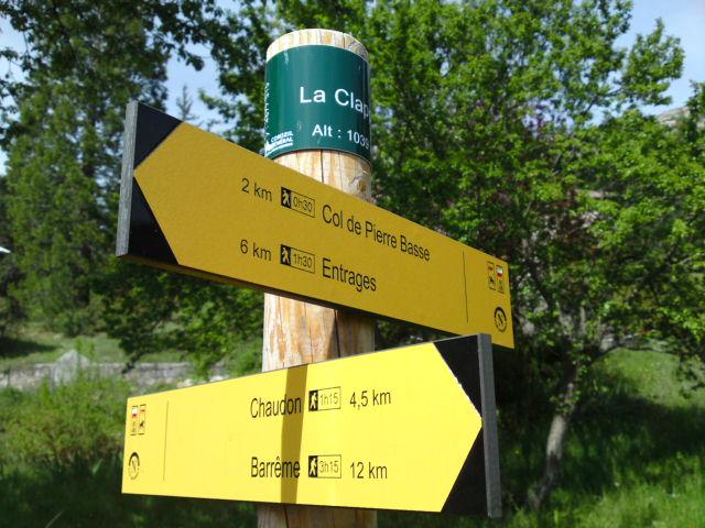 Signalétique de randonnée de la vallée de la Drée (71)