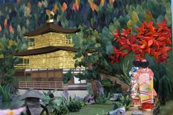 16.京都秋の金閣寺とその庭園(部分写真)