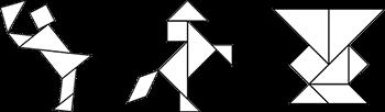 3 Tangrams côté blanc - www.tangram-champions.com