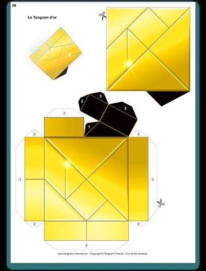 La réalisation du trophée - Étape 1 - Imprimer le trophée sur du papier épais au format A4 - https://www.tangram-champions.com
