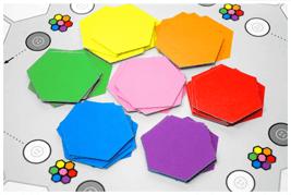 Disposer les 28 cartes de couleur pour constituer le stock - www.tangram-champions.com