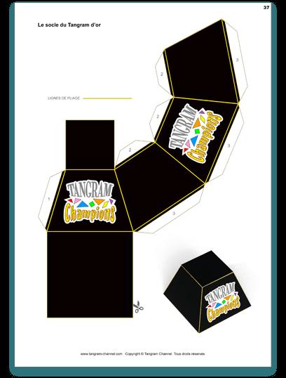 La réalisation du socle - Étape 1 - Imprimer le socle sur du papier épais au format A4 - https://www.tangram-champions.com