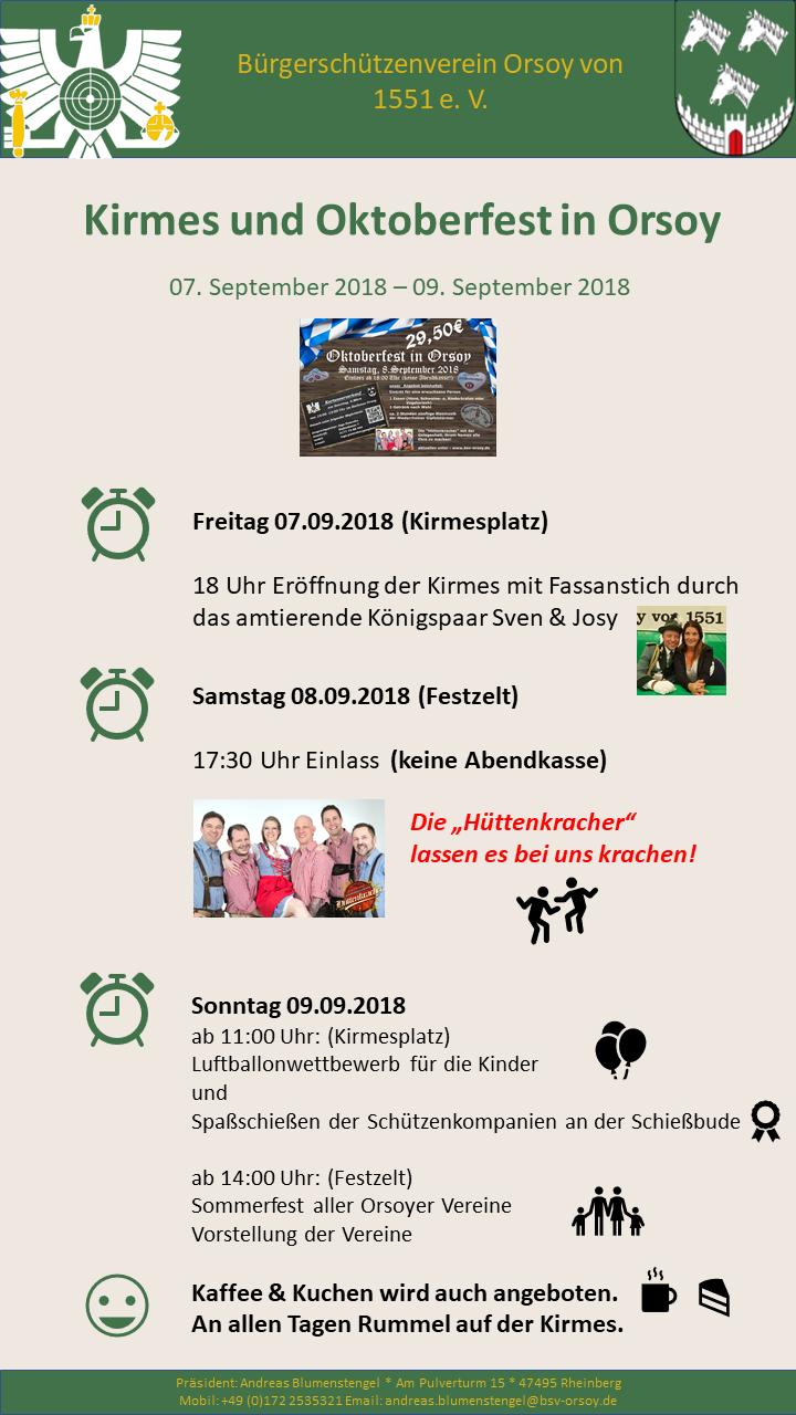 Kirmes und Oktoberfest in Orsoy 2018