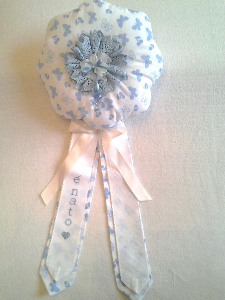 Fiocco nascita bimba punto croce for Pietre decorative bricoman