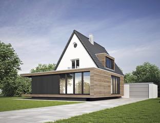 Ein Anbau ist eine sinvolle Möglichkeit Wohnraum zu erweitern.