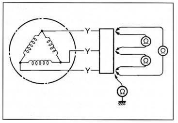 Схема подсоединения мультиметра к генератору