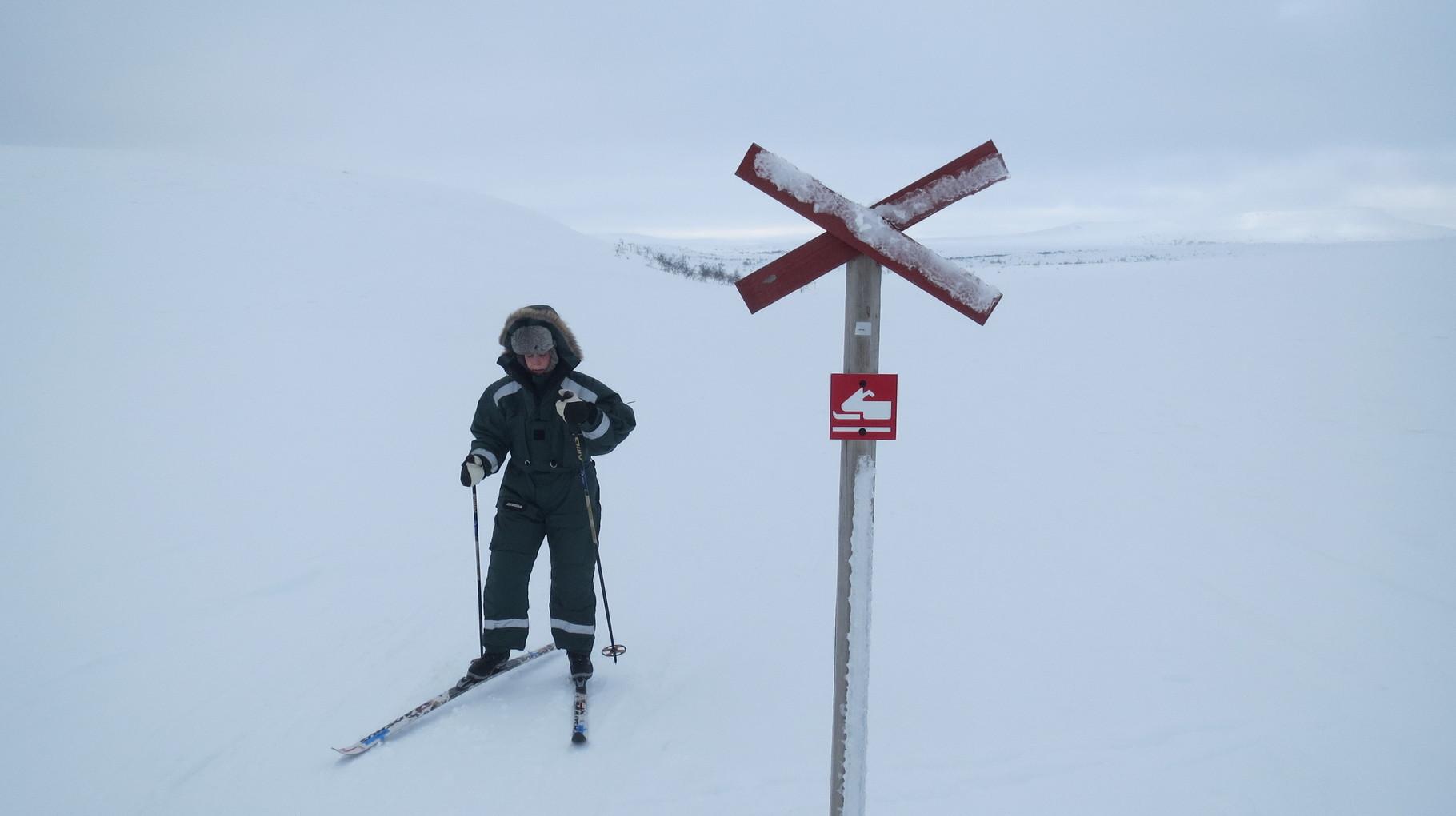 Mit einem Snowscooter wäre man auch nur geringfügig schneller!