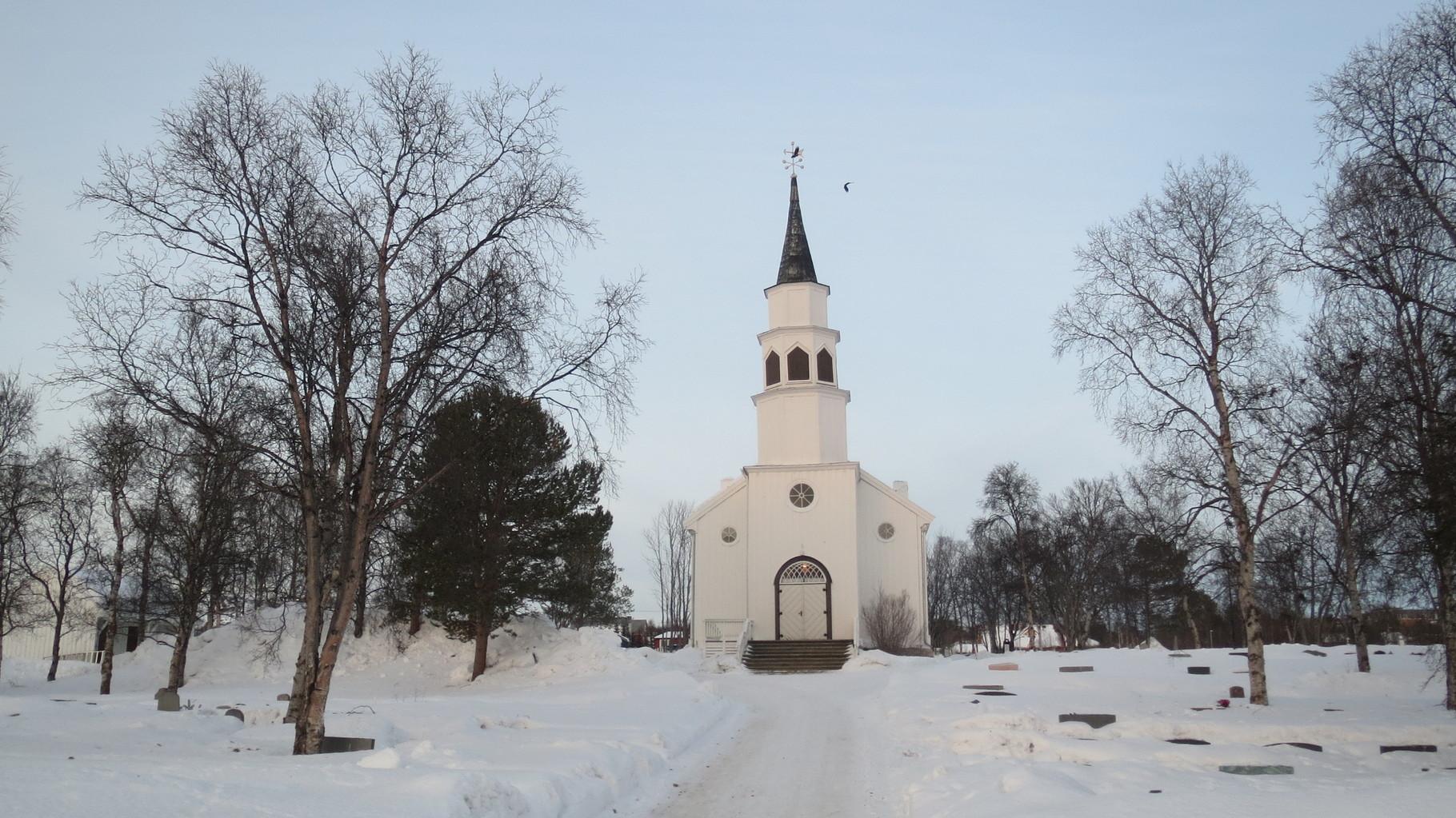 Die Alta Kirke etwas außerhalb des Stadtzentrums ...
