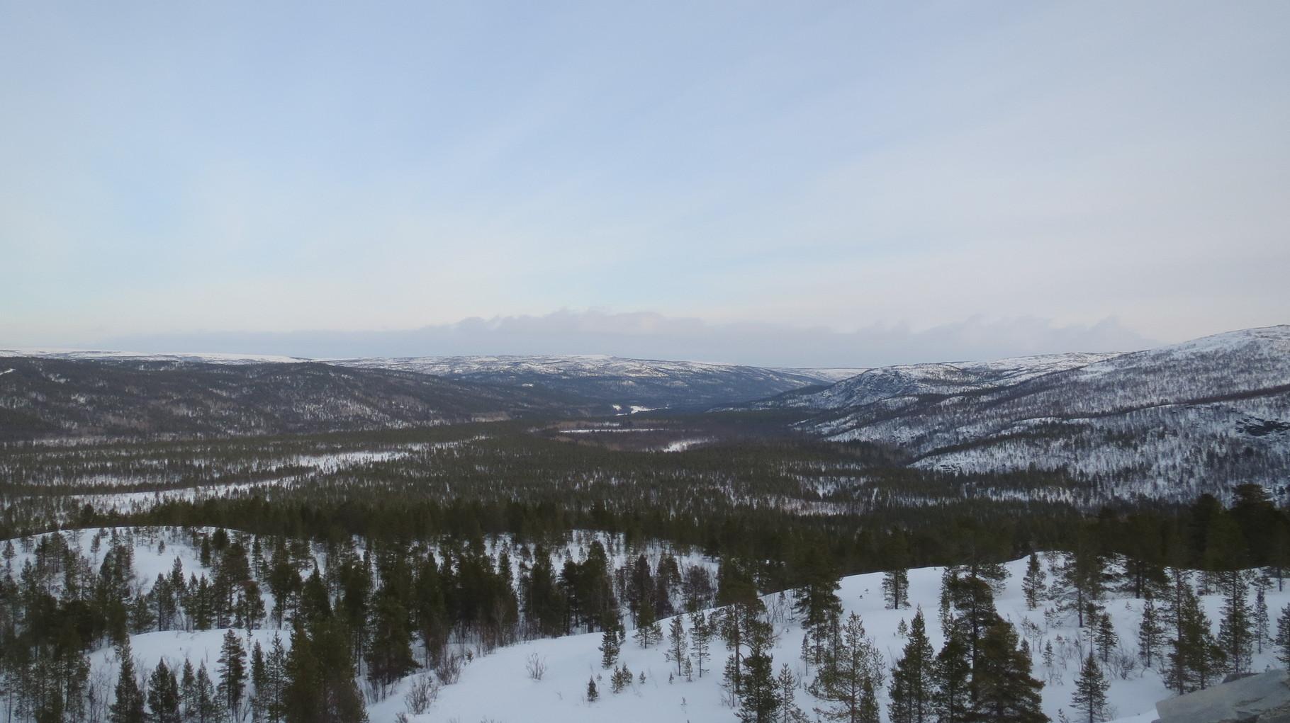 ... den Ausblick genießen und dann geht es zurück Richtung Alta.