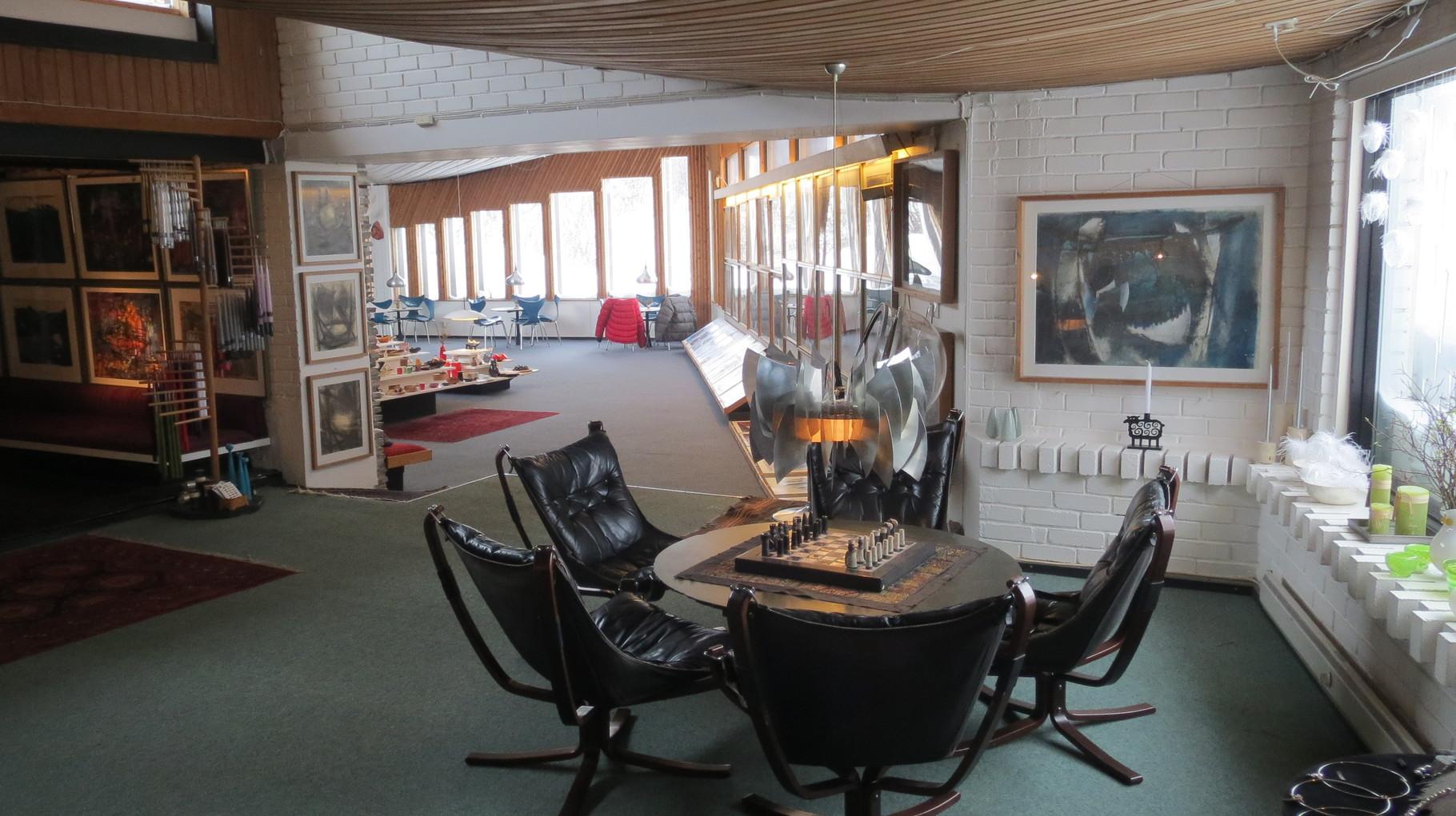 In den ausladenden Räumen die so über mehrere Jahrzehnte entstanden sind ...